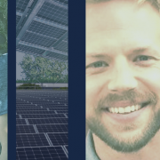 Collage of Evan Becka, President of Pisgah Energy and Solar Panels