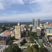 Rooftop View of Downtown Asheville NC