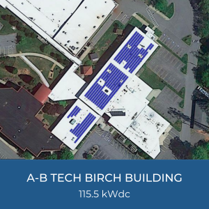 Project Title Card - Helioscope of A-B Tech Birch Building Solar Installation, 115.5kWdc