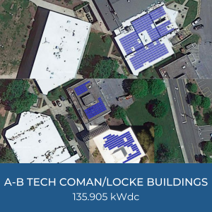 Project Title Card - Image of Helioscopes of A-B Tech Coman/Locke Buildings Solar Installations, 135.905kWdc