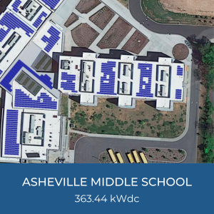 Project Title Card - Helioscope of Asheville Middle School Solar Installation, 363.44kWdc