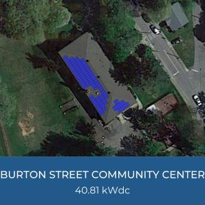 Project Title Card - Image of Helioscope of Burton Street Community Center Solar Installation, 40.81kWdc