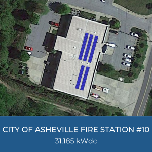 Helioscope of City of Asheville Fire Station #10 Solar Installation, 31.185kWdc
