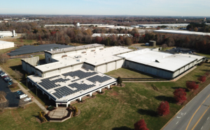 Birds Eye View of Solar Installation at Contec Headquarters
