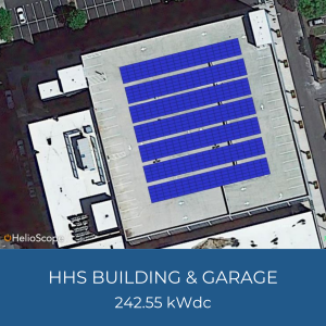 Project Title Card - Image of HHS Building Helioscope, 242.55kWdc
