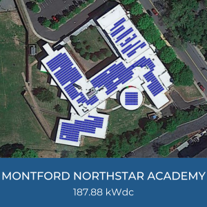 Project Title Card - Helioscope for Montford Northstar Academy 187.88kWdc Solar Installation