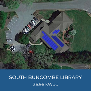 Project Title Card - Image of South Buncombe Library Helioscope, 36.96kWdc