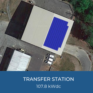 Project Title Card - Image of Helioscope of Buncombe County Transfer Station Solar Installation, 107.8kWdc