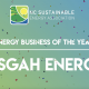 Logo of NC Sustainable Energy Association with the text 'Clean Energy Business of the Year - Pisgah Energy'