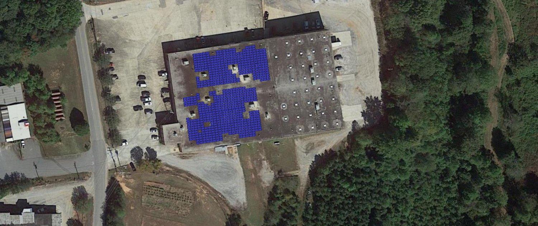 Helioscope of Vanguard Furniture's Product Development Solar Installation
