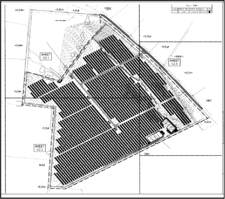 Site Map of the Blue Ridge Energy Brighter Future Solar Project