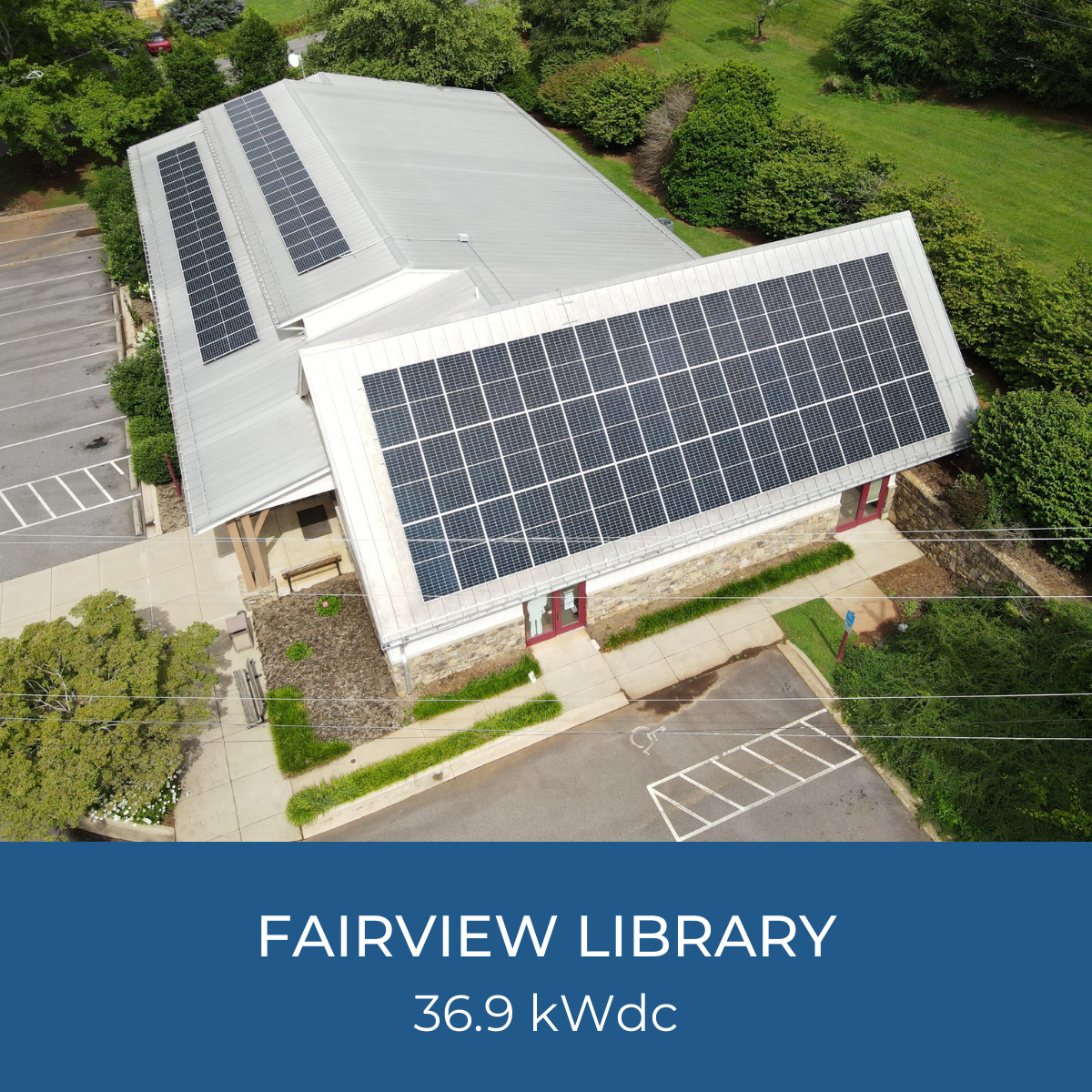 Image of Fairview Library Solar Project, 36.9kWdc system