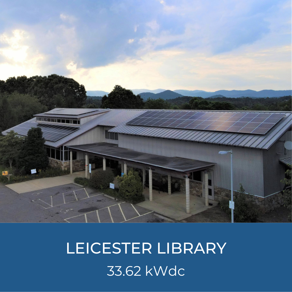 Image of Leicester Library Solar Project, 33.62kWdc system