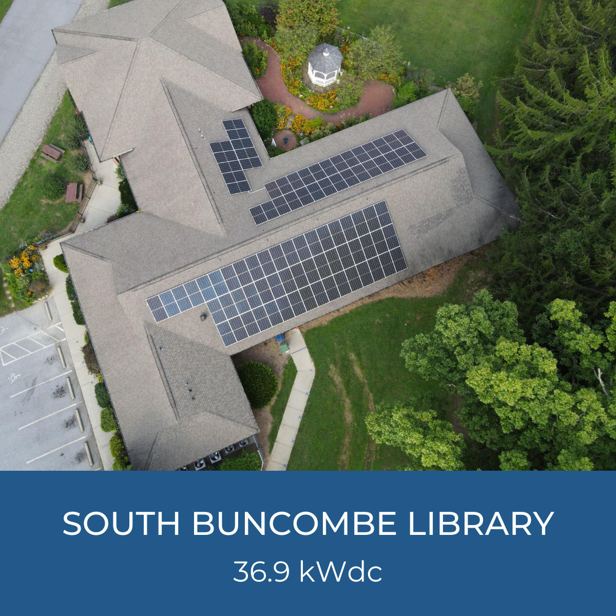 Image of South Buncombe Library Solar Project, 36.9kWdc system